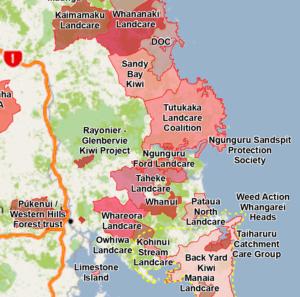 Tutukaka Landcare Map
