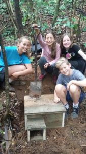 Nesting box installed by year 7 and 8 kids from Ngunguru School